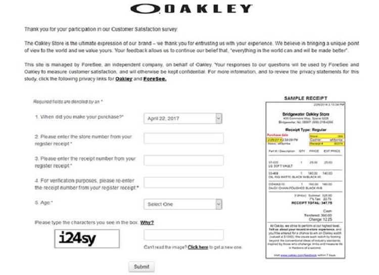 www.oakley.com/feedback
